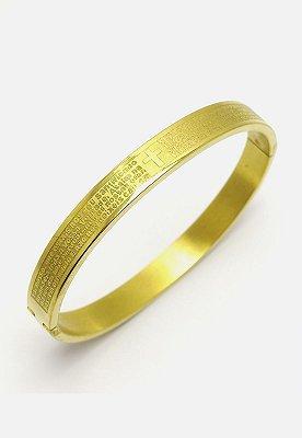 Bracelete Kodo Acessórios Pai Nosso Dourado