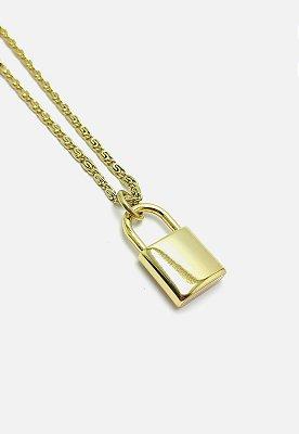 Colar Kodo Acessórios Cadeado Dourado