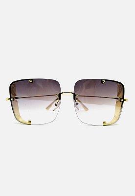 Óculos Kodo Acessórios Quadrado Dourado