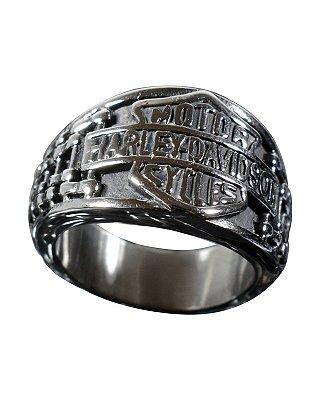 Anel Kodo Acessórios Harley Davidson Prata