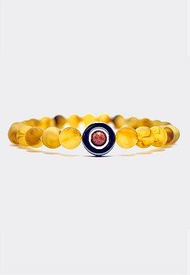 Pulseira Kodo Acessórios Bolinhas Portal Amarela