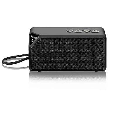 Caixa de Som Bluetooth Multilaser 8W RMS Hands Free Micro SD Aux Preto - SP174