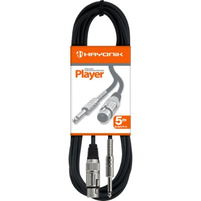 Cabo para Microfone Hayonik Player XLR(F) X P10 5m Preto