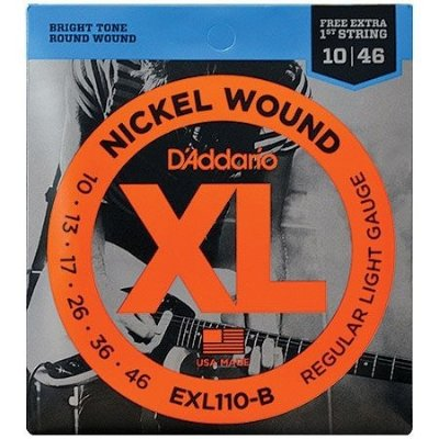 Encordoamento Para Guitarra D'addario EXL110-B Regular Light .010-.046