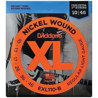Encordoamento Para Guitarra D'addario EXL110-B Regular Light .010-.046