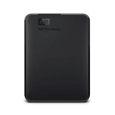 HD Externo Portátil WD Elements 1Tb WDBUZG0010BBK Usb 3.0