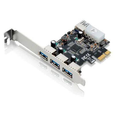 Placa Multilaser PCI Express USB 3.0 GA130 com 3 Portas Frontais + 1 Porta Traseira