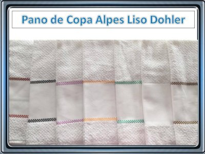 PANO DE COPA FELPUDO JACQUARD PARA PINTAR E BORDAR ALPES LISO