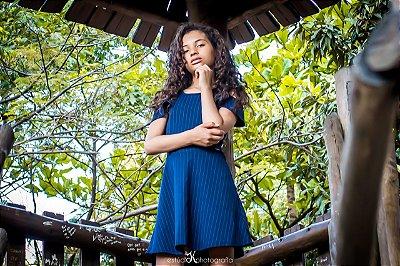 Vestido Listra Azul