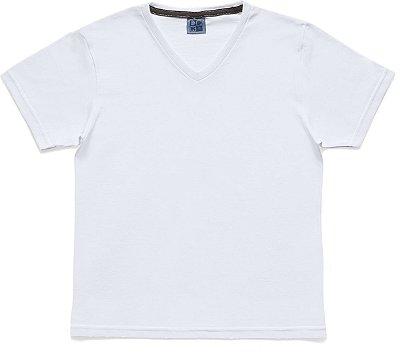 Camiseta em Decote V Básica Branco
