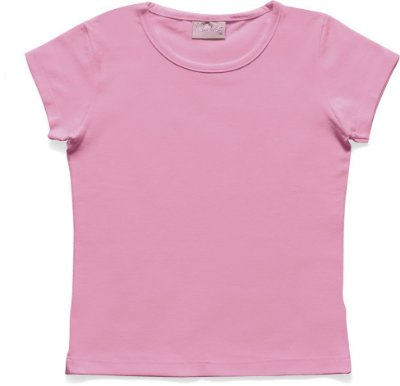 Blusa Básica em Cotton Rosa Flúor