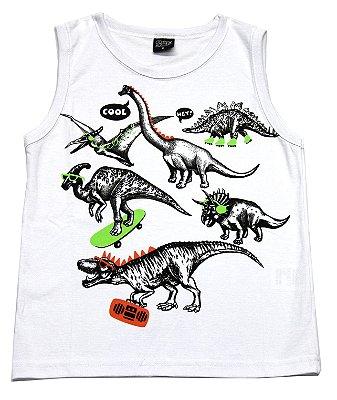 Machão com Estampa Dinossauros Branco