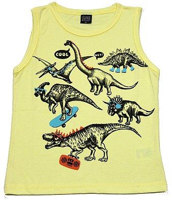 Machão com Estampa Dinossauros Amarelo