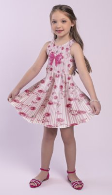 Vestido Estampado Floral Rosa