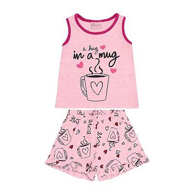 Conjunto Pijama Regata e Short Rosa