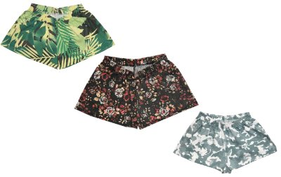 Kit 3 Shorts Flor Abstrato