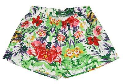 Shorts Estampado Flores