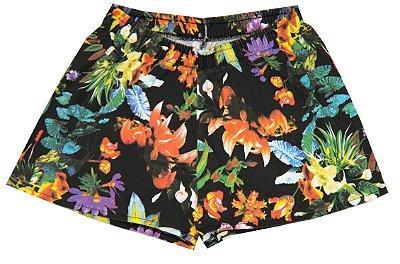 Shorts Flores Colorido