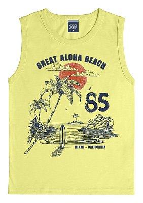Machão Estampada Aloha Beach Amarelo