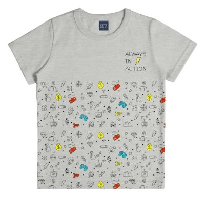 Camiseta Estampada Always Cinza
