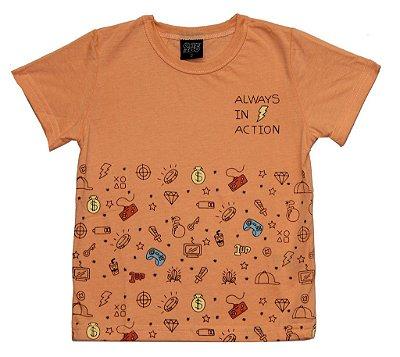 Camiseta Estampada Always Laranja
