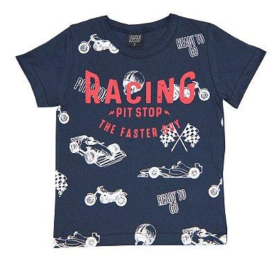 Camiseta Estampada Racing Azul