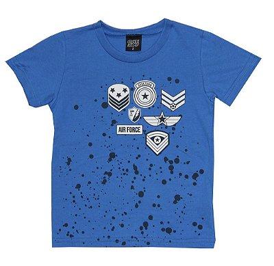 Camiseta em Meia Malha Estampada Aviação Azul