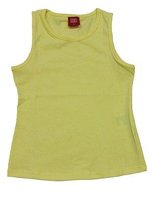 Regata Básica em Cotton Amarelo