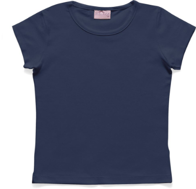 Blusa Básica em Cotton Azul