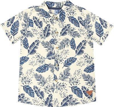 Camisa em Linho Rotativo Azul