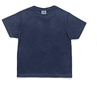 Camiseta em Decote Redondo Básica Azul