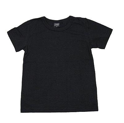 Camiseta  em Decote Redondo Básica Preto