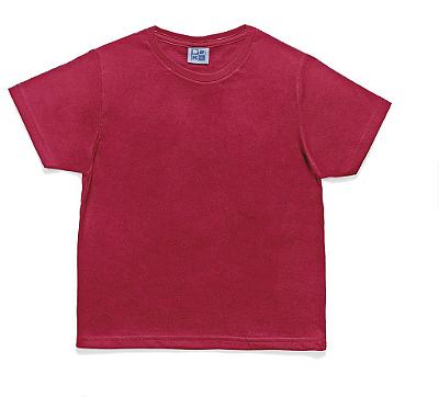 Camiseta em Decote Redondo Básica Vermelha