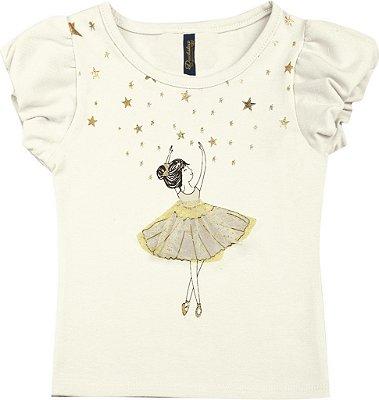 Blusa em Cotton Penteado Bailarina Bege