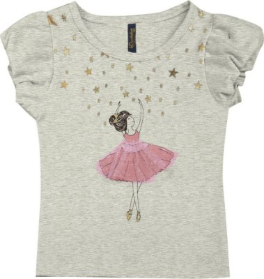Blusa em Cotton Penteado Bailarina Mescla Claro