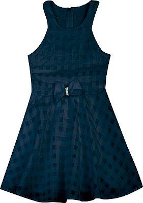 Vestido em Chiffon Azul