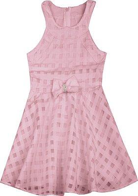 Vestido em Chiffon Rosa