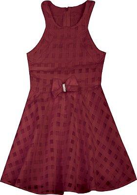 Vestido em Chiffon Vermelho