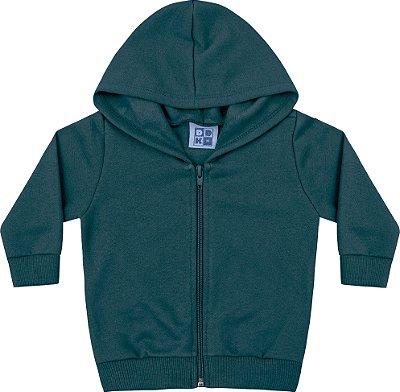 Jaqueta em Moletom Soft Peluciado Verde