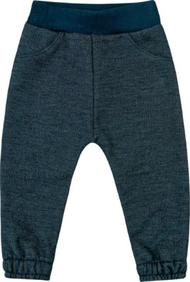 Calça em Moletom Jeans Peluciado Azul