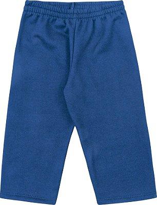 Calça em Moletom Soft Peluciado Azul