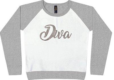 Blusão em Moletinho Pa Diva Cinza