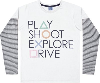 Camiseta em Meia Malha Play Branco