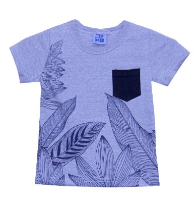 Camiseta em Meia Malha Penteada Mescla