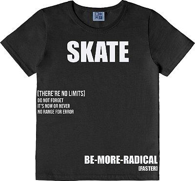 Camiseta em Meia Malha Penteada Preto