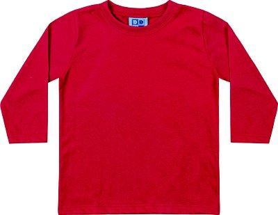 Camiseta Em Meia Malha  Penteada Vermelho