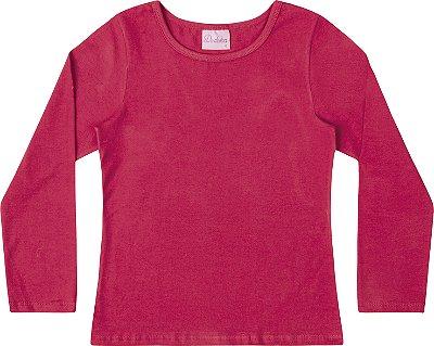 Blusa Em Cotton Penteado - Rosa