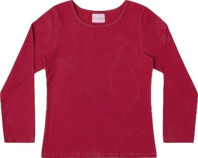 Blusa Em Cotton Penteado - Vermelho