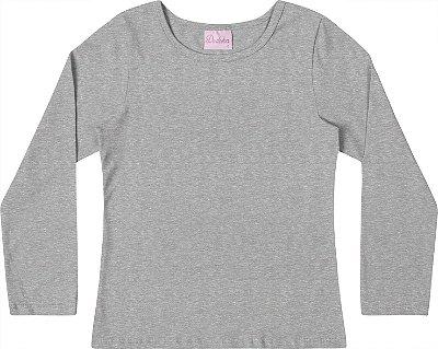 Blusa Em Cotton Penteado - Mescla