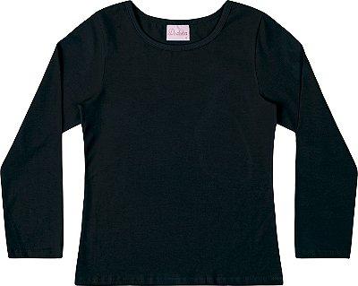 Blusa Em Cotton Penteado - Preto